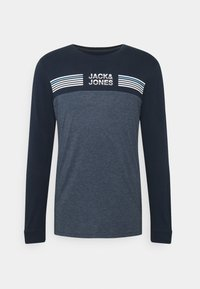 Jack & Jones - JCOCARGO TEE CREW NECK - Camiseta de manga larga - navy blazer - 4