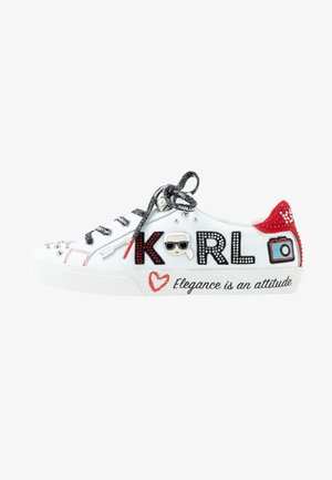 SKOOL JEWEL BADGE - Sneakers laag - white/silver