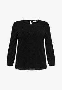 ONLY Carmakoma - ZEBRA - Long sleeved top - black - 4