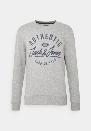 JJHERO CREW NECK - Sweatshirt - light grey melange