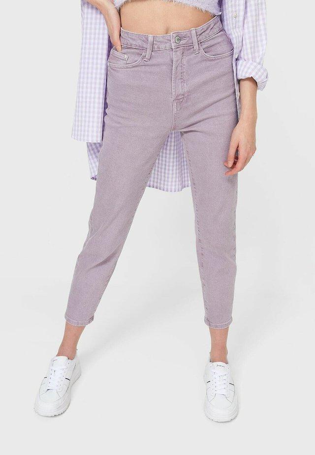 Džíny Slim Fit - mottled purple