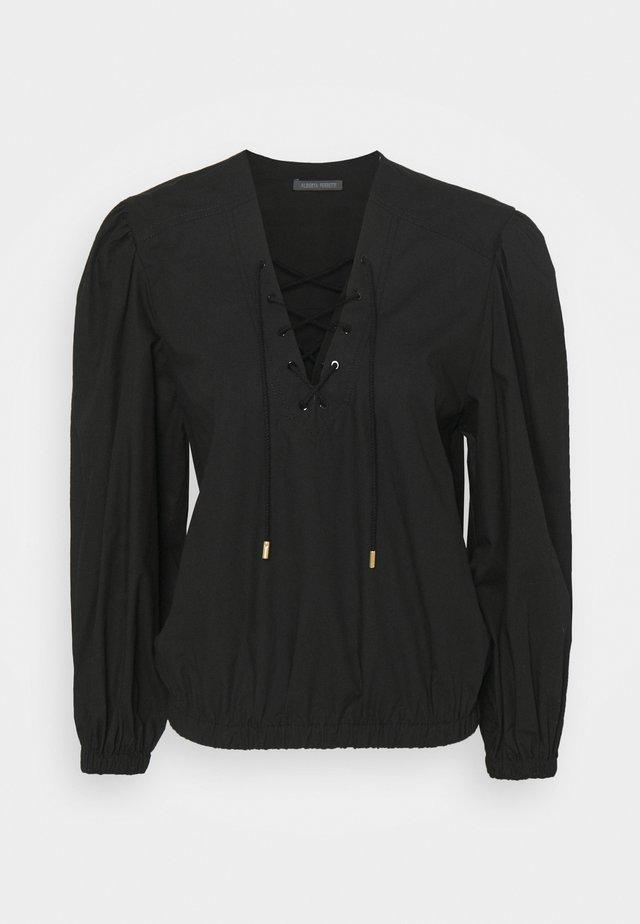 BLOUSE - T-shirt à manches longues - black