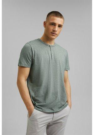 HENLEY  - Print T-shirt - teal blue