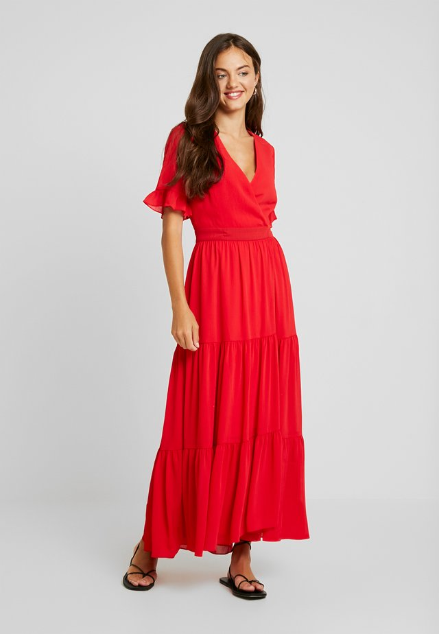 HEM WRAP DRESS - Maxikjoler - red