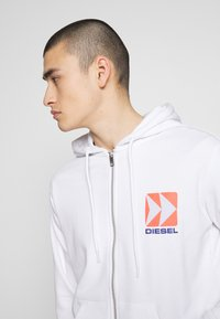 Diesel - BRANDON - Zip-up hoodie - white - 3