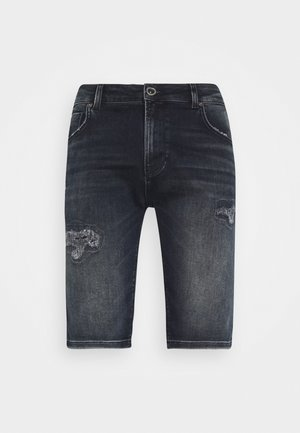 ORLANDO DAMAGED - Denim shorts - blue black