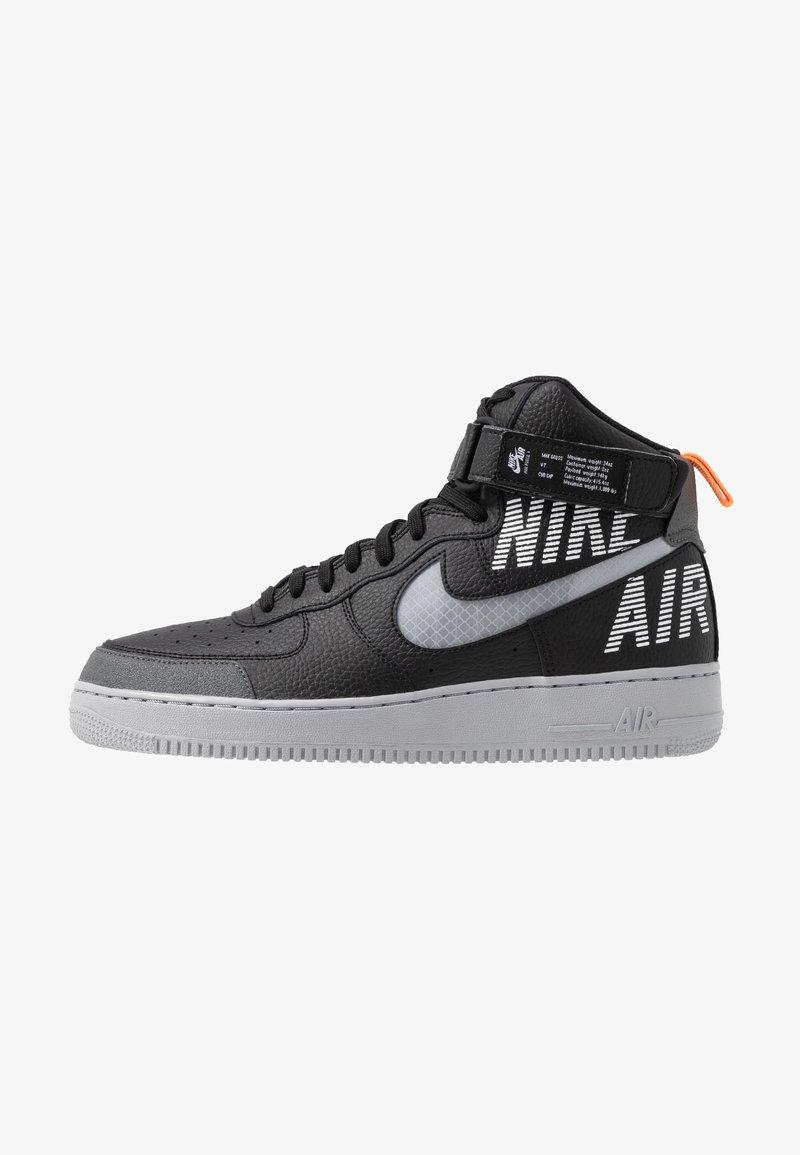 Nike Sportswear - AIR FORCE 1 - Sneakers hoog - black/wolf grey/dark grey/total orange/white