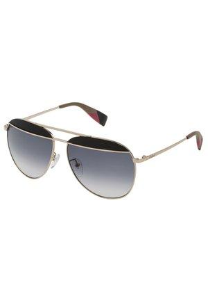 Sunglasses - light gold w/colors parts