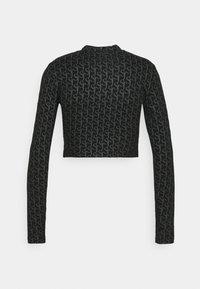 Sixth June - MONOGRAM CROP  - Top sdlouhým rukávem - black - 1