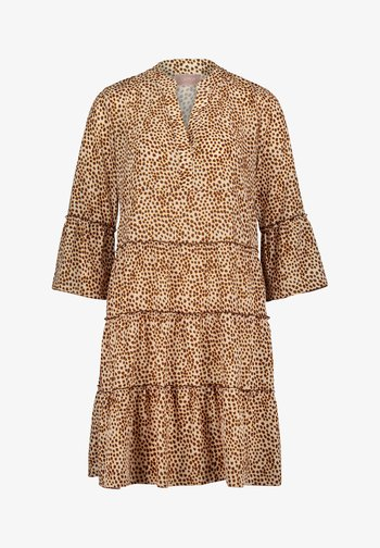 Robe d'été - weiß/braun