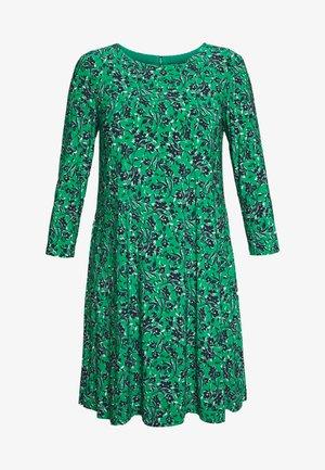 PRINTED MATTE DRESS - Day dress - malachite/navy