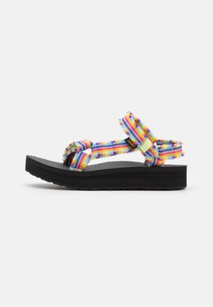 MIDFORM FRAY - Walking sandals - frazier black/multicolor