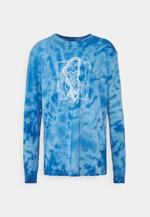 TIE DYE LONG SLEEVE UNISEX - Long sleeved top - blue