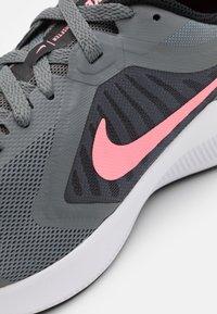 Nike Performance - DOWNSHIFTER - Neutral running shoes - smoke grey/sunset pulse/black/white - 5