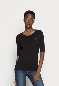 Tommy Hilfiger - ESSENTIAL SOLID - Basic T-shirt - black - 0