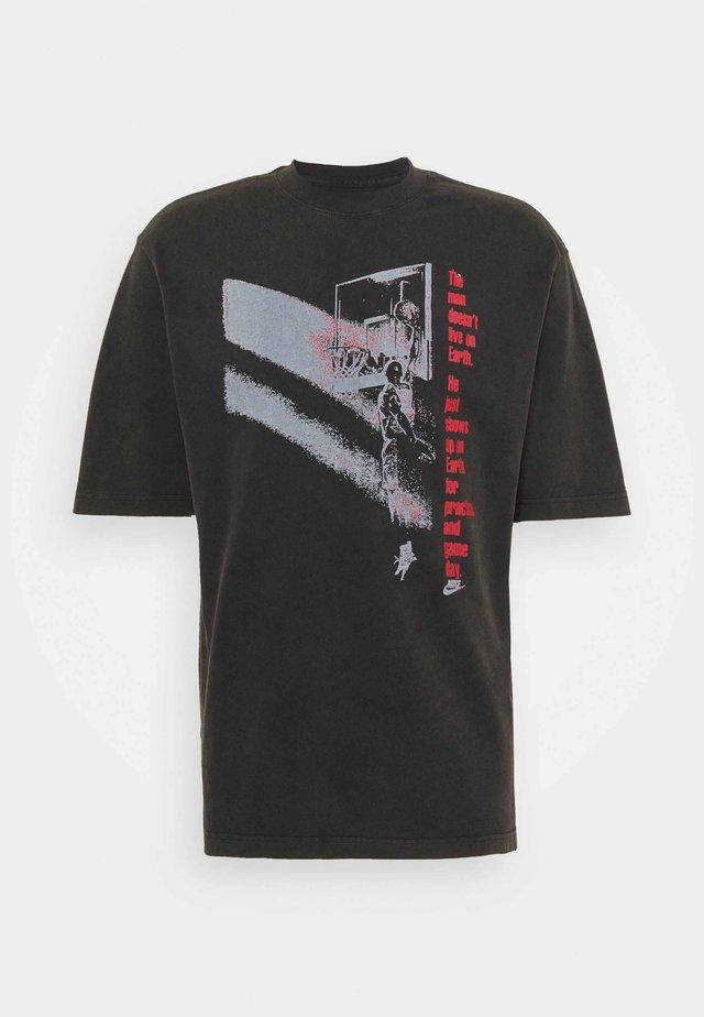 GRAPHIC CREW - Print T-shirt - black