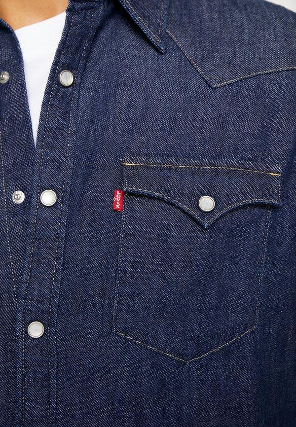 Levi's® BARSTOW WESTERN STANDARD - Koszula - red cast rinse marbled/ciemnoniebieski Odzież Męska VYZS