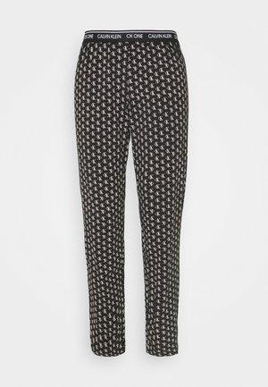 LOUNGE SLEEP PANT - Pyjamasbyxor - black