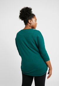 Live Unlimited London - WRAP FRONT - Strickpullover - green - 2