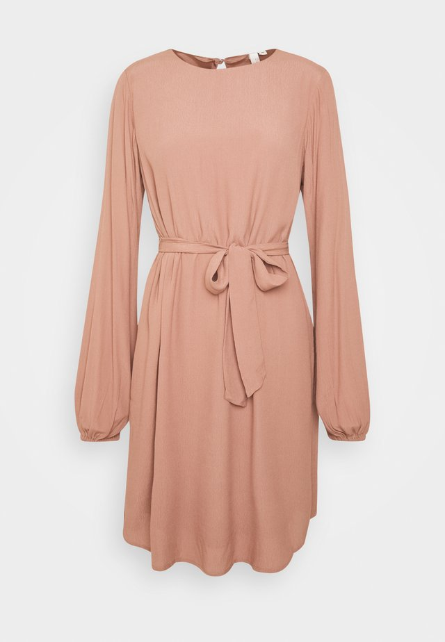 PERFECT BELTED DRESS - Day dress - brown