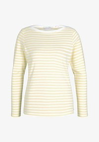 TOM TAILOR DENIM - CONTRAST NECK - Long sleeved top - white yellow stripe - 4