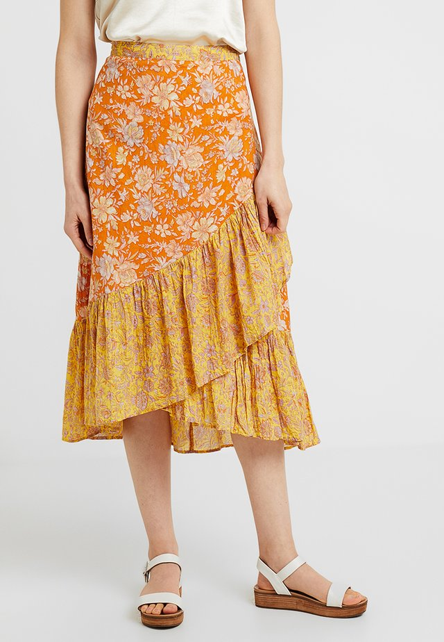 SKIRT - Falda acampanada - yellow/multi-coloured