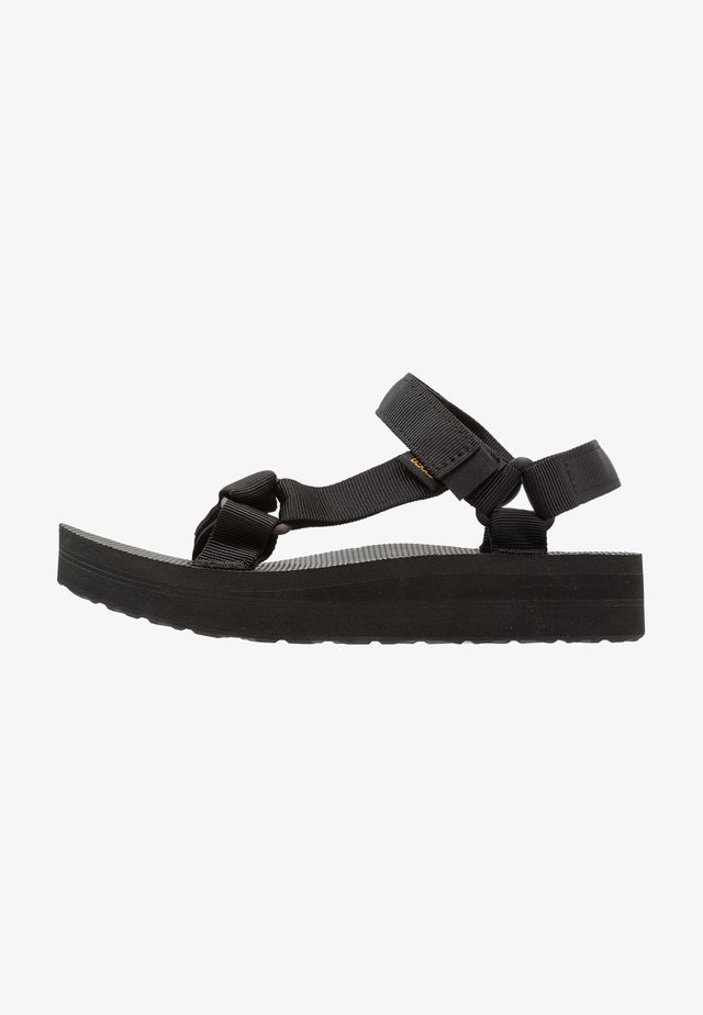 MIDFORM UNIVERSAL - Walking sandals - black
