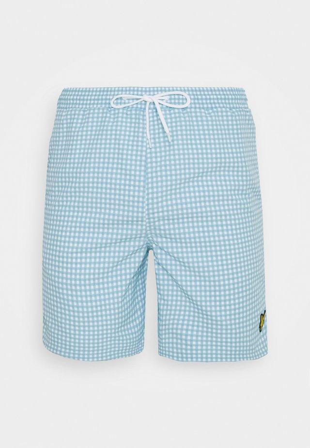 GINGHAM SWIM - Short de bain - deck blue/ white