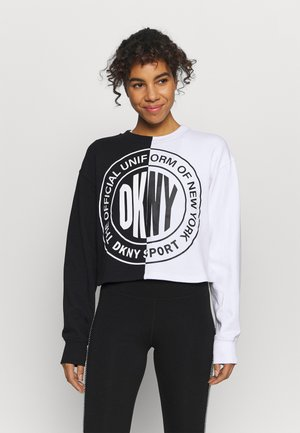 CROPPED SPLIT LOGO - Sweatshirt - black