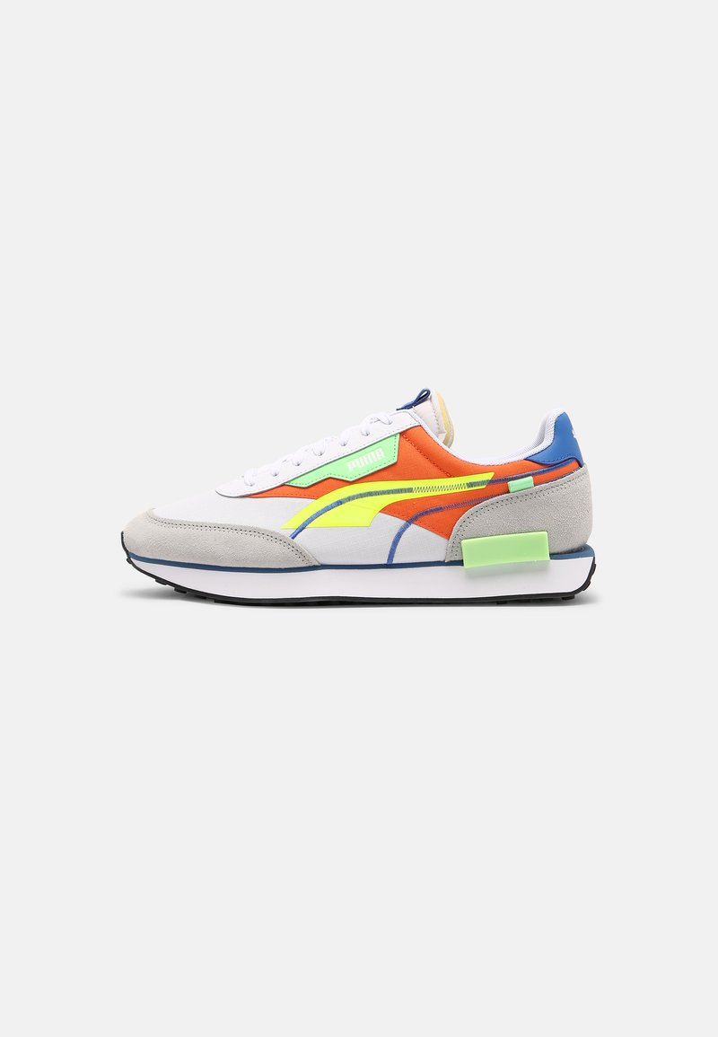 Puma - FUTURE RIDER TWOFOLD SD POP UNISEX - Trainers - white/yellow alert/carrot