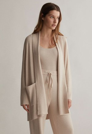 WITH POCKETS - Kardigan - beige
