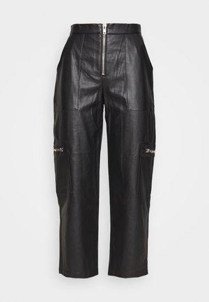 PANTS HEAVY ZIPS - Trousers - black