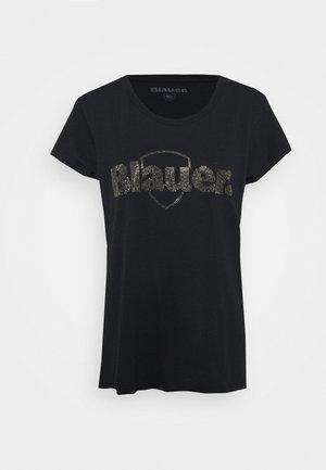 SWAROWSKI LOGO - T-shirt print - black