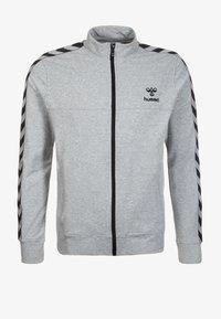 Hummel - CLASSIC BEE AAGE - Sweatjakke /Træningstrøjer - grey/black - 0