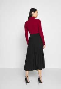 Anna Field - Plisse A-line midi skirt - Áčková sukně - black - 2