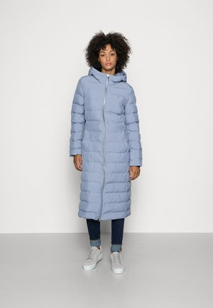 SEAMLESS PADDED MAXI COAT - Classic coat - moonstone