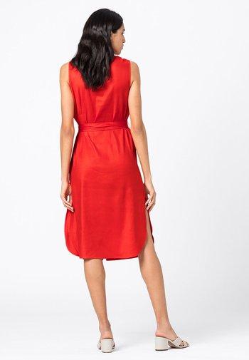 Shirt dress - geranie
