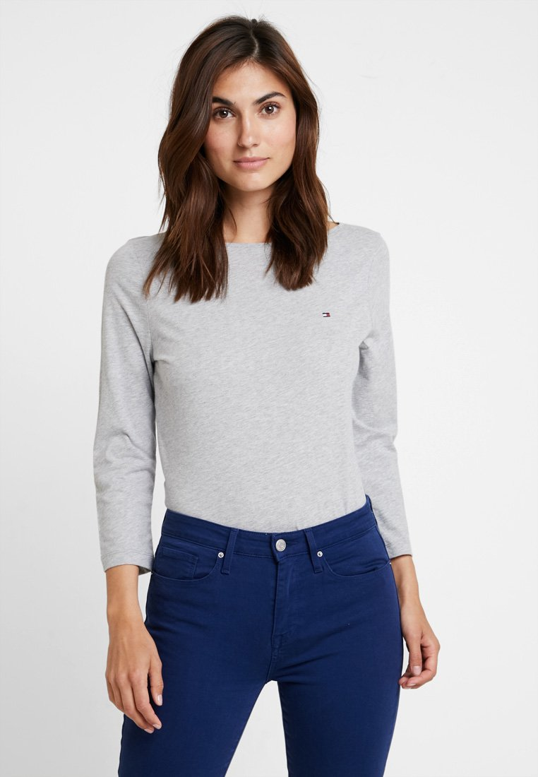 Tommy Hilfiger - NEW TILLY BOAT TEE - Long sleeved top - grey