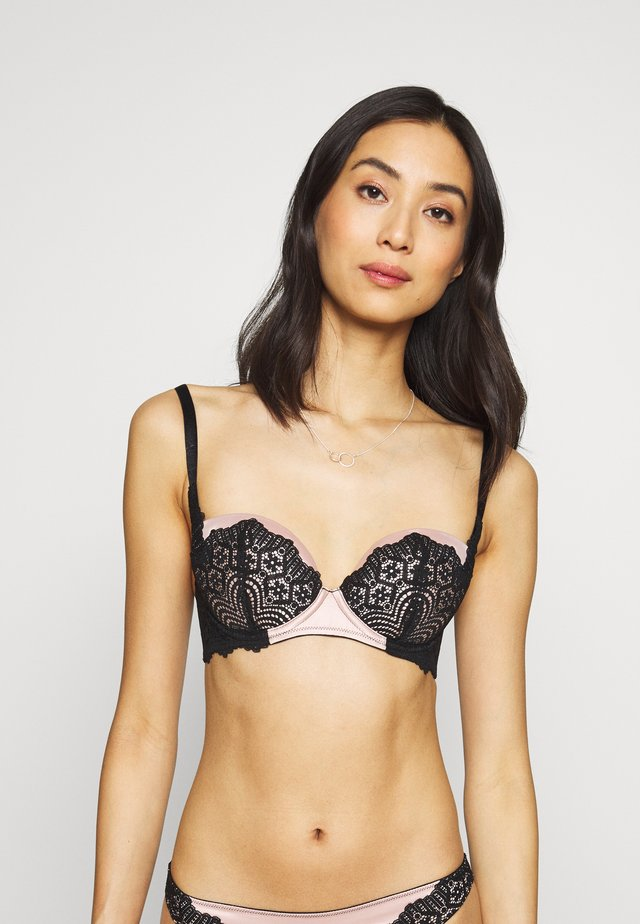 THE UNAPOLOGETIC BALCONY - Underwired bra - nude/black