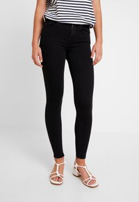 ONLY - ONLPOWER MID PUSH UP - Jeans Skinny Fit - black - 0
