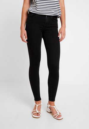 ONLPOWER MID PUSH UP - Jeans Skinny - black