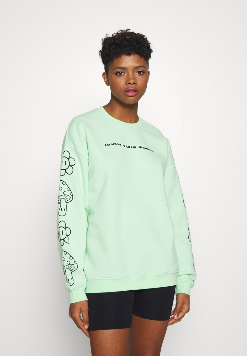 NEW girl ORDER - KNOW YOUR ROOTS - Mikina - green