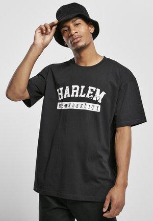 HARLEM - T-shirt con stampa - black