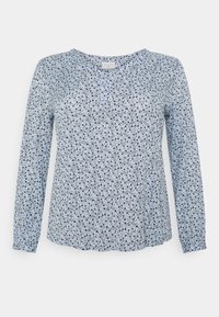 Kaffe Curve - BIRNE AMI BLOUSE - Long sleeved top - chambray blue - 0