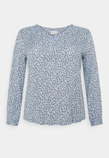 BIRNE AMI BLOUSE - Long sleeved top - chambray blue