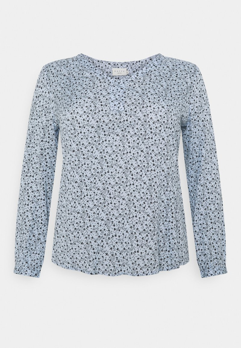 Kaffe Curve - BIRNE AMI BLOUSE - Long sleeved top - chambray blue