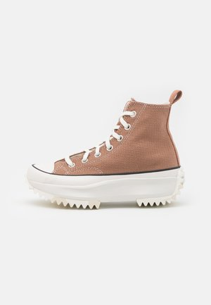 RUN STAR HIKE UNISEX - Sneakersy wysokie - rose taupe/white/egret