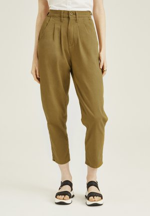 PLEATED BALLOON - Jean boyfriend - dull gold