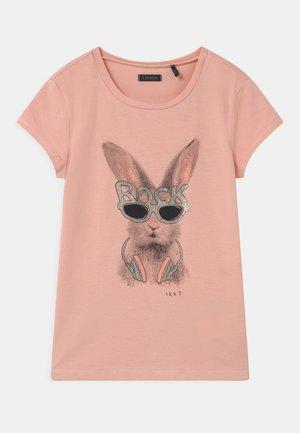 Print T-shirt - rose poudré