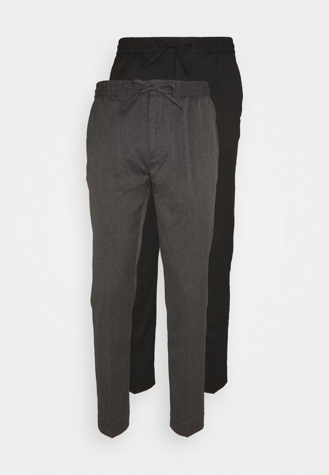 2 PACK - Trousers - black/grey